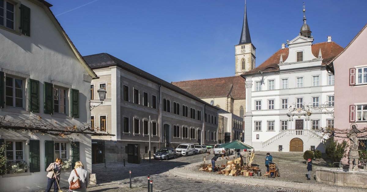 Im Zentrum der Stadt Iphofen