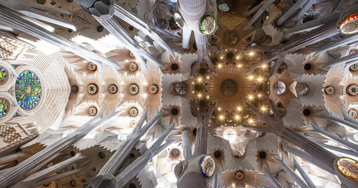Innenaufnahme der Kirche Sagrada Familie, Barcelona